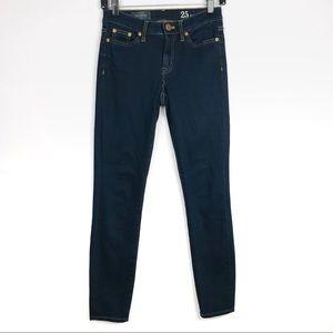 J Crew Toothpick Dark Wash Skinny Jeans 25 Ankle